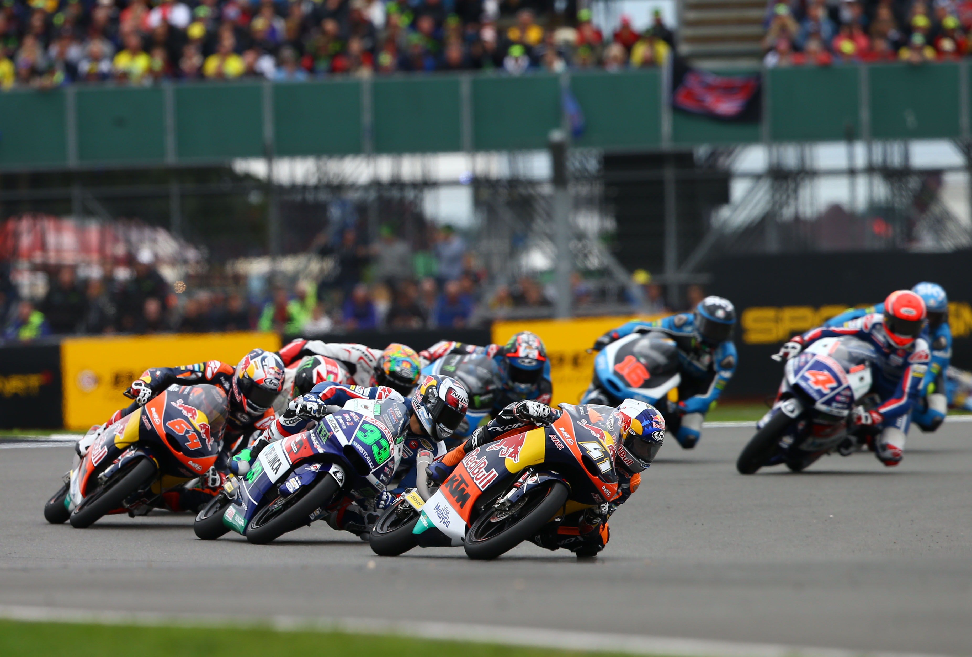 Rd 12 Silverstone 3rd, first podium in Moto3